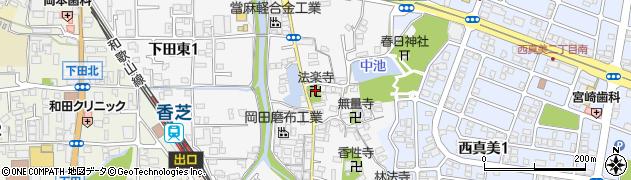 法楽寺周辺の地図