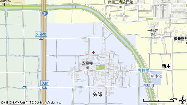 〒636-0346 奈良県磯城郡田原本町矢部の地図