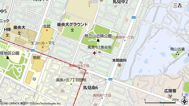 〒635-0832 奈良県北葛城郡広陵町馬見中の地図