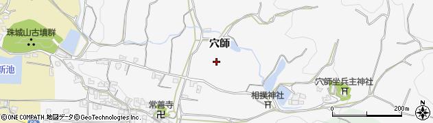 奈良県桜井市穴師周辺の地図