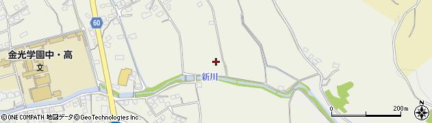 岡山県浅口市金光町占見新田周辺の地図