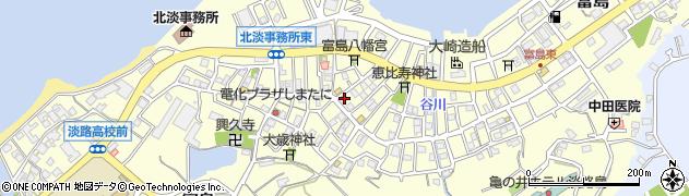 兵庫県淡路市富島周辺の地図
