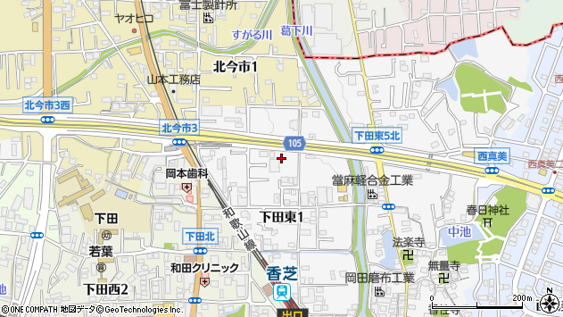 〒639-0232 奈良県香芝市下田東の地図