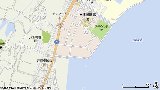 〒656-2304 兵庫県淡路市浜の地図