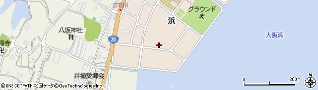 兵庫県淡路市浜周辺の地図