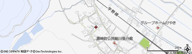 岡山県岡山市南区川張周辺の地図