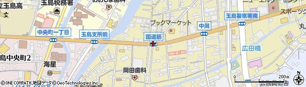 国道筋周辺の地図