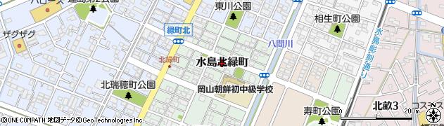 岡山県倉敷市水島北緑町周辺の地図