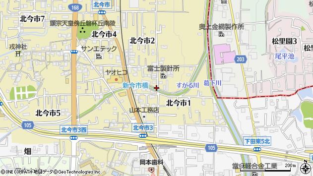〒639-0242 奈良県香芝市北今市の地図