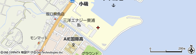 兵庫県淡路市小磯周辺の地図