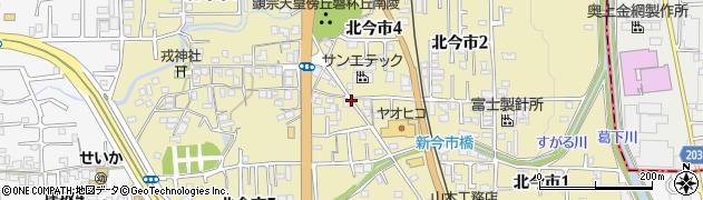 奈良県香芝市北今市周辺の地図