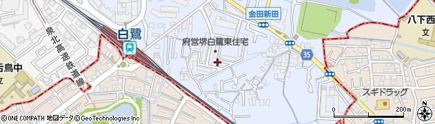 府営白鷺東住宅周辺の地図