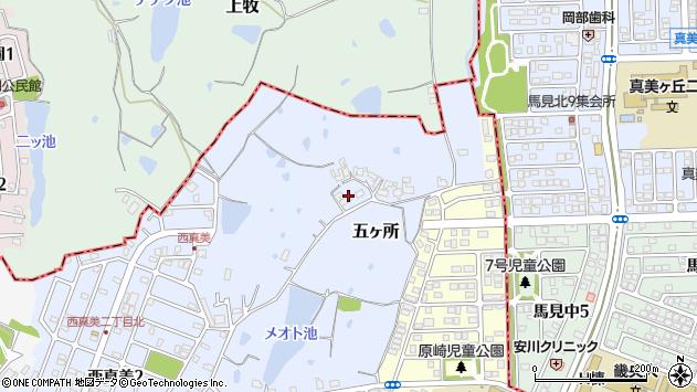 〒639-0221 奈良県香芝市五ケ所の地図