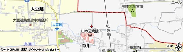 奈良県桜井市草川周辺の地図