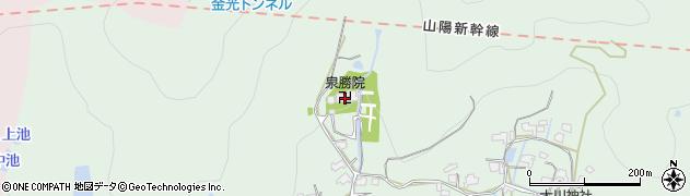 泉勝院周辺の地図