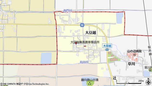 〒633-0087 奈良県桜井市大豆越の地図