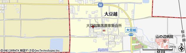 奈良県桜井市大豆越周辺の地図