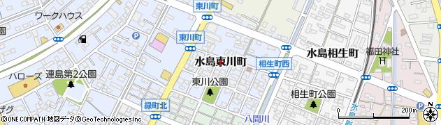 岡山県倉敷市水島東川町周辺の地図