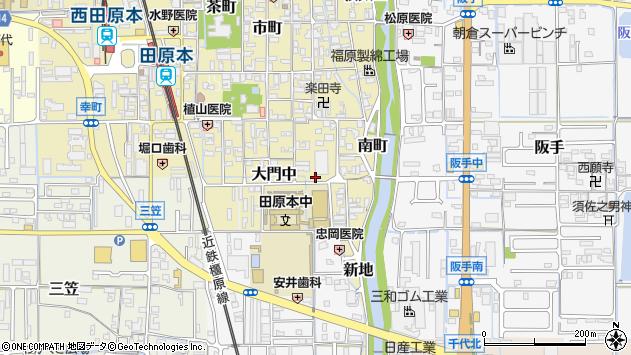 〒636-0335 奈良県磯城郡田原本町大門東の地図