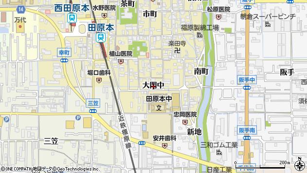 〒636-0336 奈良県磯城郡田原本町大門中の地図
