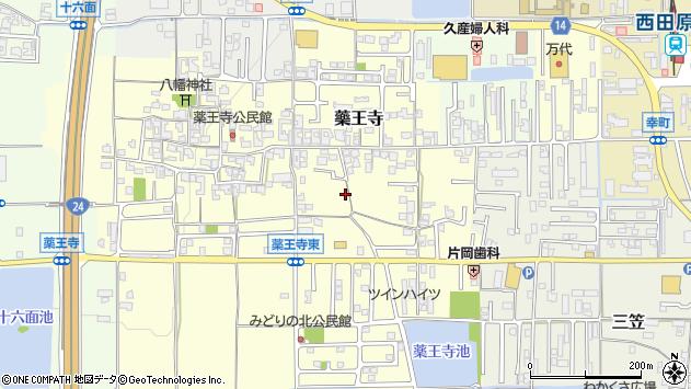 〒636-0341 奈良県磯城郡田原本町薬王寺の地図
