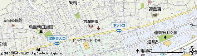 岡山県倉敷市連島町(亀島新田)周辺の地図