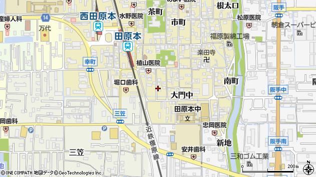 〒636-0337 奈良県磯城郡田原本町大門西の地図