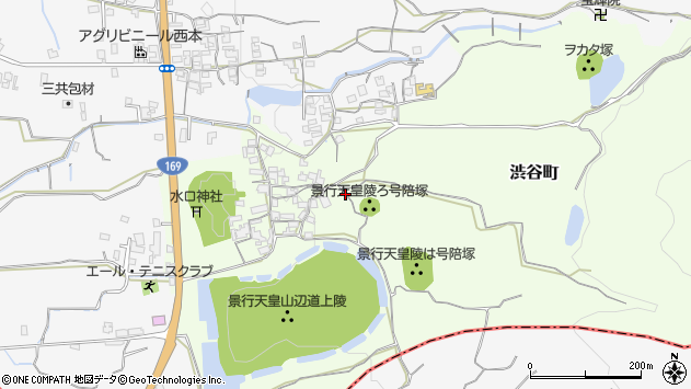 〒632-0053 奈良県天理市渋谷町の地図
