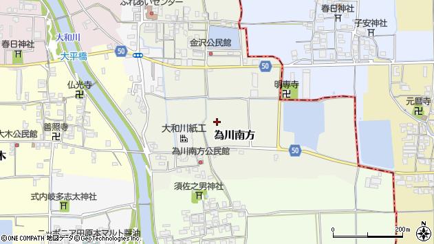 〒636-0233 奈良県磯城郡田原本町為川南方の地図
