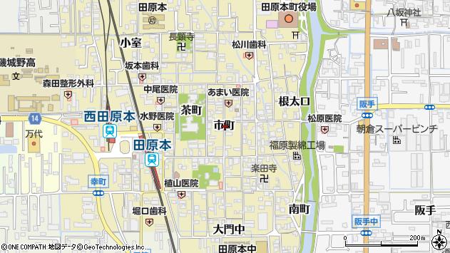 〒636-0332 奈良県磯城郡田原本町市町の地図