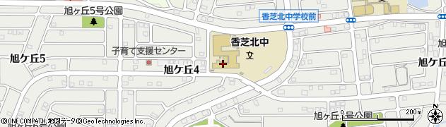 奈良県香芝市旭ケ丘周辺の地図