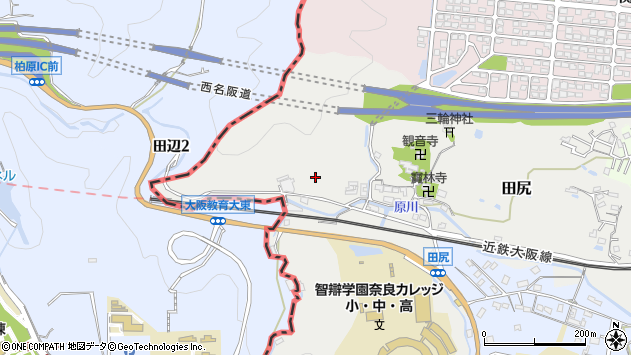 〒639-0253 奈良県香芝市田尻の地図