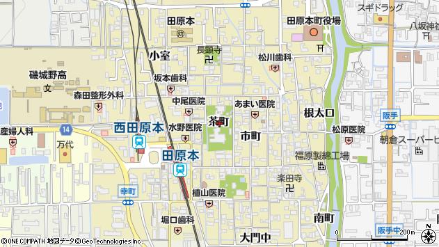 〒636-0338 奈良県磯城郡田原本町茶町の地図