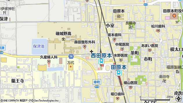 〒636-0316 奈良県磯城郡田原本町室町の地図