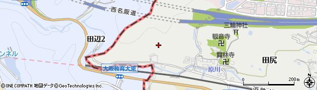 奈良県香芝市田尻周辺の地図