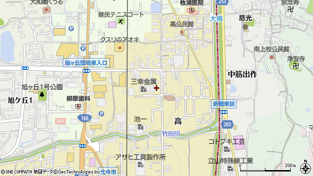 〒639-0241 奈良県香芝市高の地図