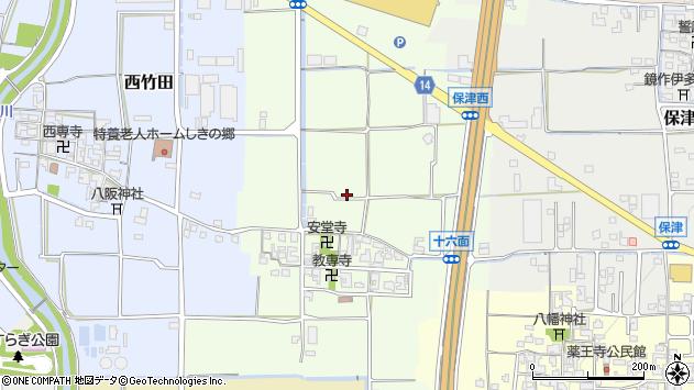 〒636-0304 奈良県磯城郡田原本町十六面の地図