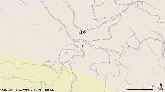 〒633-0105 奈良県桜井市白木の地図
