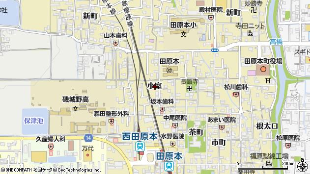 〒636-0339 奈良県磯城郡田原本町小室の地図