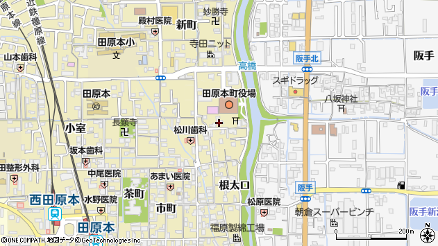 〒636-0321 奈良県磯城郡田原本町八幡町の地図
