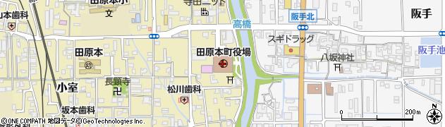 奈良県磯城郡田原本町周辺の地図
