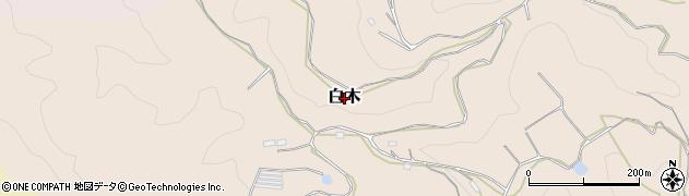 奈良県桜井市白木周辺の地図
