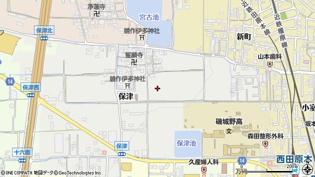 〒636-0303 奈良県磯城郡田原本町保津の地図
