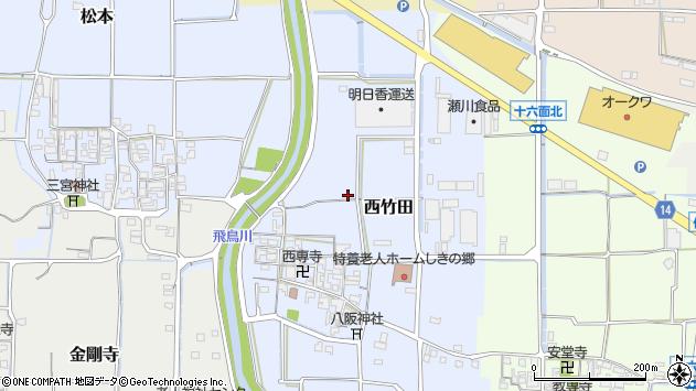 〒636-0306 奈良県磯城郡田原本町西竹田の地図