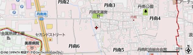 大阪府松原市丹南周辺の地図