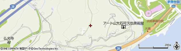 兵庫県淡路市楠本周辺の地図