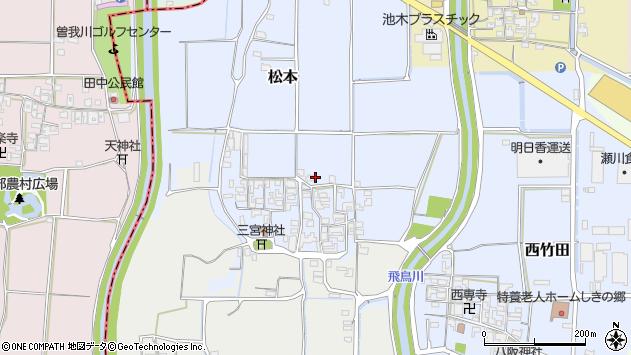 〒636-0351 奈良県磯城郡田原本町松本の地図