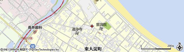 三重県伊勢市東大淀町周辺の地図