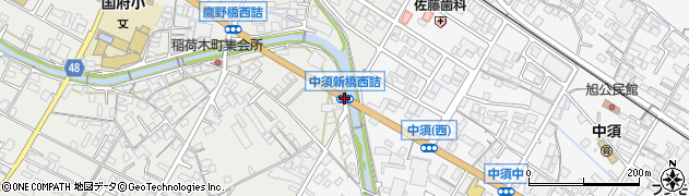 中須新橋西詰周辺の地図