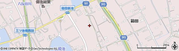 広島県福山市神辺町(箱田)周辺の地図